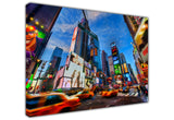 New Large Canvas Prints Wall Art City View New York Times Square Speeding Vehicles Oil Painting Reprint Landscape Cityscape - Photo Print Picture Great Decoration For The Home-3D
