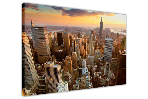 New York City Skyline Image Framed Canvas Prints Wall Art Pictures Home Decoration Modern Art-3D