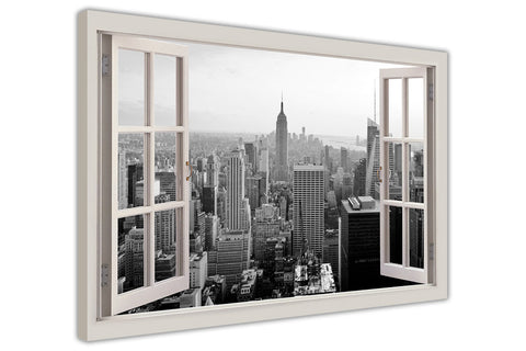 Black and White New York City on Framed Canvas Wall Art Prints Movie Pictures TV photos Home Decoration Room Deco Posters-3D