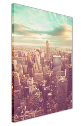 Vintage photo of New York City on Framed Canvas Wall Art Prints Pictures City Images Landmarks-3D