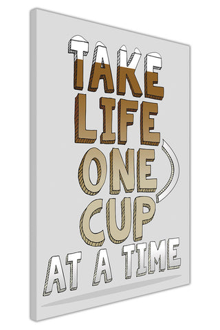 One Cup on Framed Canvas Wall Art Prints Floral Pictures Home Decoration Room Deco Poster Photo Artwork-3D