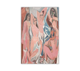 Les Demoiselles d'Avignon by Pablo Picasso Oil Painting Re-printed on Framed Canvas Wall Art Prints Home Decoration Pictures Room Deco Photo-Front