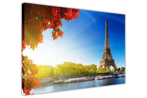 Iconic Paris Eiffel Tower Autumn Photos Framed Canvas Prints Wall Art Home Decoration City Pictures-3D