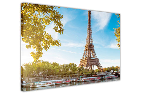 Summer Photos Paris Eiffel Tower Canvas Wall Art Framed Pictures Home Decoration Modern Art Prints-3D