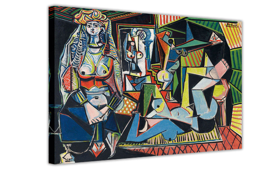 Les Femmes d\'Alger by Pablo Picasso on Framed Canvas Wall Art Prints ...