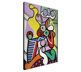 Great Still Life On Pedestal by Pablo Picasso Re-printed on Framed Canvas Wall Art Prints Home Decoration Pictures Room Deco Photo-3D