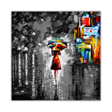 Black and white Rain Princess By Leonid Afremov Canvas print Wall Art Pictures for Living Room Bedroom Office Home Decoration Oil Painting Re-print-Front