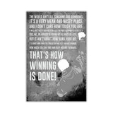 Black and White Inspirational Rocky Balboa Quote Distressed Look on Framed Canvas Wall Art Prints Movie Pictures TV photos Home Decoration Room Deco Posters-Front