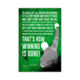 Green Inspirational Rocky Balboa Quote Distressed Look on Framed Canvas Wall Art Prints Movie Pictures TV photos Home Decoration Room Deco Posters-Front
