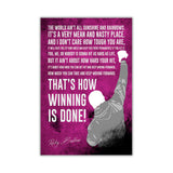 Pink Inspirational Rocky Balboa Quote Distressed Look on Framed Canvas Wall Art Prints Movie Pictures TV photos Home Decoration Room Deco Posters-Front