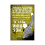 Yellow Inspirational Rocky Balboa Quote Distressed Look on Framed Canvas Wall Art Prints Movie Pictures TV photos Home Decoration Room Deco Posters-Front