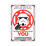 Star Wars Imerial Rebellion Stormtrooper Poster on Framed Canvas Wall Art Prints Movie Pictures TV photos Home Decoration Room Deco Posters-Front