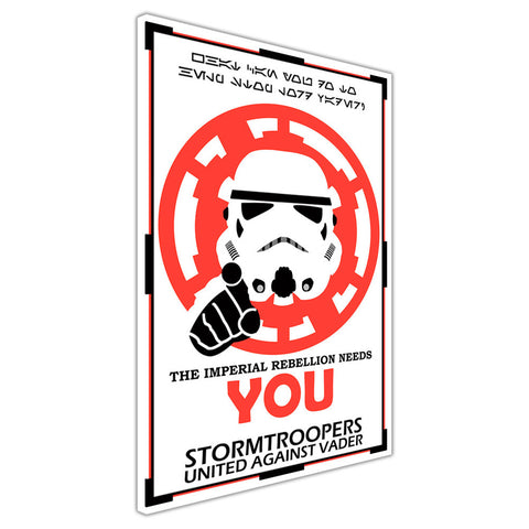 Star Wars Imerial Rebellion Stormtrooper Poster on Framed Canvas Wall Art Prints Movie Pictures TV photos Home Decoration Room Deco Posters-3D