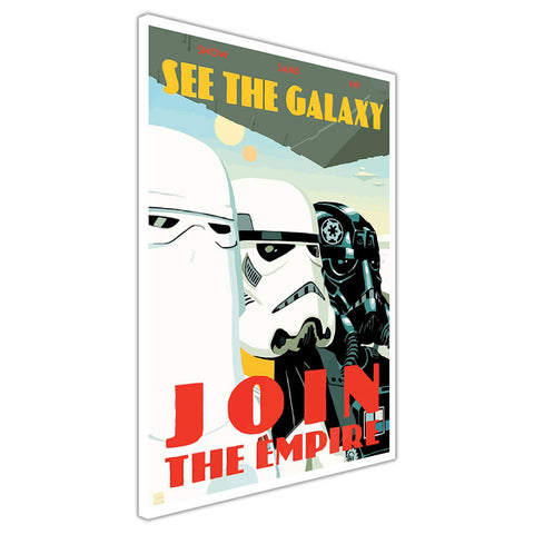 Star Wars Join The Empire Quote Stormtrooper Poster on Framed Canvas Wall Art Prints Movie Pictures TV photos Home Decoration Room Deco Posters-3D