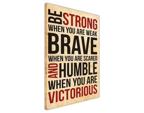Motivational Strong and Victorious Quote on Framed Canvas Wall Art Prints Room Deco Poster Photo Landscape Pictures Home Decoration Artwork-3D