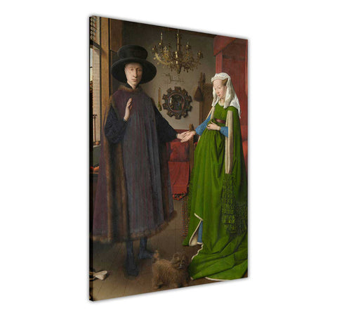 The Arnolfini Portrait by Jan van Eyck Oil Painting Re-printed on Framed Canvas Wall Art Prints Home Decoration Pictures Room Deco Photo-3D