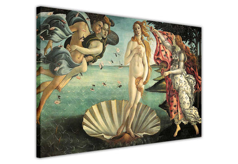 Birth of Venus by Sandro Botticelli Re-printed on Framed Canvas Wall Art Prints Home Decoration Pictures Room Deco Photo-3D