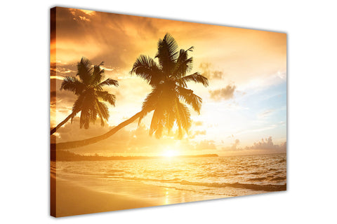 Tropical Beach Landscape on Framed Canvas Wall Art Prints Room Deco Poster Photo Landscape Pictures Home Decoration Artwork-3D