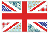 Floral Union Jack on Framed Canvas Wall Art Prints Floral Pictures Home Decoration Room Deco Poster Photo Artwork-FRONT
