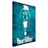 Blue Star Wars Darth Vader Your Father Quote on Framed Canvas Wall Art Prints Movie Pictures TV photos Home Decoration Room Deco Posters-3D