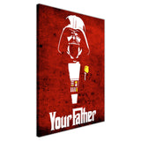 Red Star Wars Darth Vader Your Father Quote on Framed Canvas Wall Art Prints Movie Pictures TV photos Home Decoration Room Deco Posters-3D