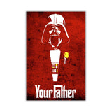 Red Star Wars Darth Vader Your Father Quote on Framed Canvas Wall Art Prints Movie Pictures TV photos Home Decoration Room Deco Posters-Front