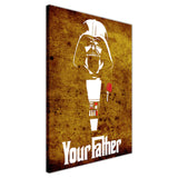 Rustic Star Wars Darth Vader Your Father Quote on Framed Canvas Wall Art Prints Movie Pictures TV photos Home Decoration Room Deco Posters-3D