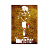 Rustic Star Wars Darth Vader Your Father Quote on Framed Canvas Wall Art Prints Movie Pictures TV photos Home Decoration Room Deco Posters-Front