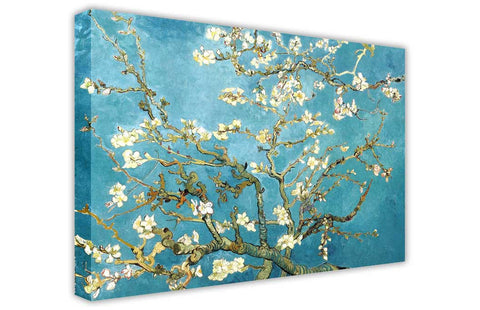 Almond Blossom by Vincent Van Gogh Oil Painting Re-printed on Framed Canvas Wall Art Prints Home Decoration Pictures Room Deco Photo-3D