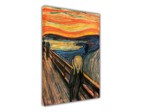Iconic The Scream by Edvard Munch Oil Painting Re-printed on Framed Canvas Wall Art Prints Home Decoration Pictures Room Deco Photo-3D