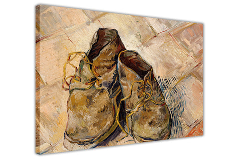 Shoes by Vincent Van Gogh on Framed Canvas Wall Art Prints Home Decoration Pictures Room Deco Photo-3D