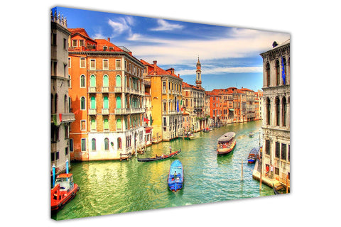 Italy Venice Grand Canal Canvas Prints Wall Art Framed Pictures Modern City Art Posters-3D