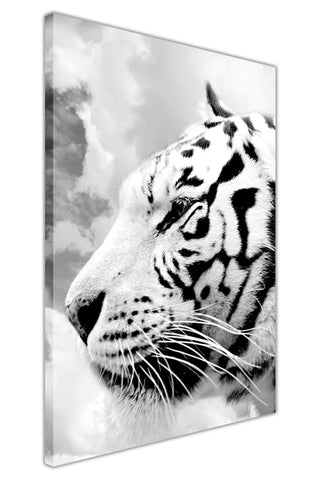 Portrait Black and White Tiger on Framed Canvas Wall Art Prints Room Deco Poster Photo Landscape Pictures Home Decoration Artwork-3D