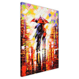 Winter Night Umbrella Oil Painting Re-printed on Framed Canvas Wall Art Prints Home Decoration Pictures Room Deco Photo-3D