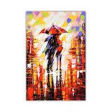 Winter Night Umbrella Oil Painting Re-printed on Framed Canvas Wall Art Prints Home Decoration Pictures Room Deco Photo-Front