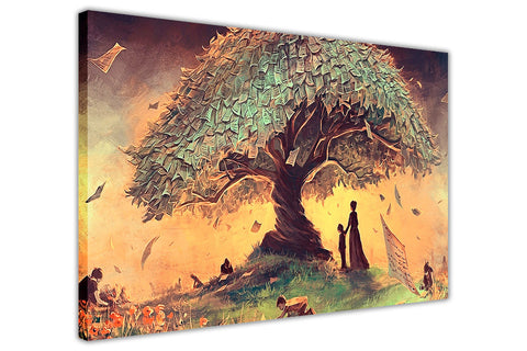 Wishing Tree Oil Painting Re-printed on Framed Canvas Wall Art Prints Home Decoration Pictures Room Deco Photo-3D
