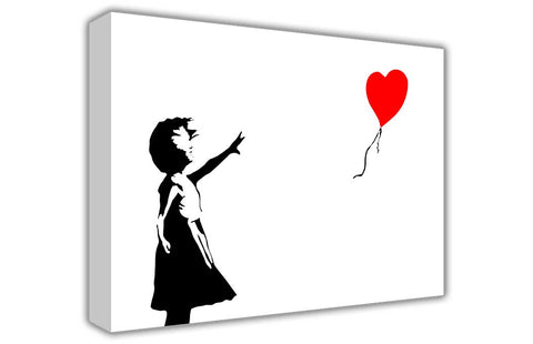 Famous Balloon Girl by Banksy on Framed Canvas Wall Art Prints Room Deco Poster Photo Landscape Pictures Home Decoration Artwork-3D