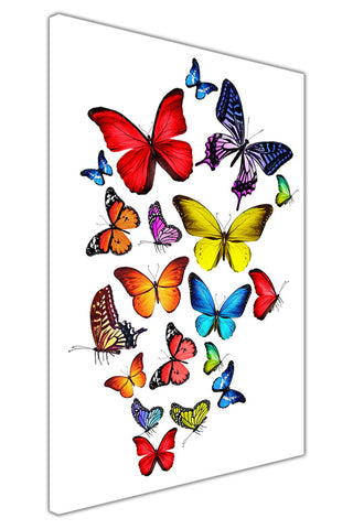 Flying Butterflies on Framed Canvas Wall Art Prints Room Deco Poster Photo Landscape Pictures Home Decoration Artwork-3D