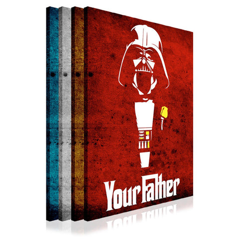 Star Wars Darth Vader Your Father Quote on Framed Canvas Wall Art Prints Movie Pictures TV photos Home Decoration Room Deco Posters-3D
