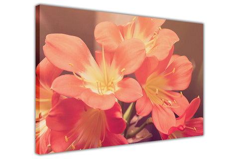 Japanese Lilies on Framed Canvas Wall Art Prints Floral Pictures Home Decoration Room Deco Poster Photo Artwork-3D