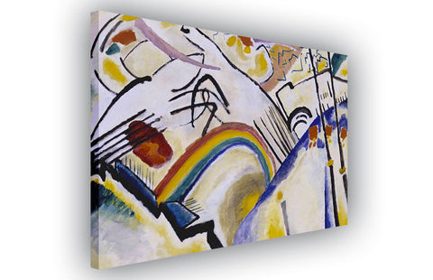 Cossacks by Wassily Kandinsky on Framed Canvas Wall Art Prints Room Deco Poster Photo Landscape Pictures Home Decoration Artwork-3D