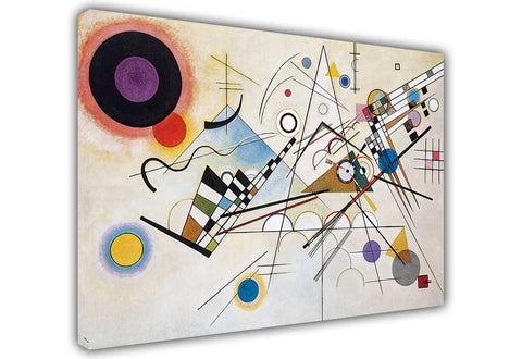 Composition 8 by Wassily Kandinsky on Framed Canvas Wall Art Prints Room Deco Poster Photo Landscape Pictures Home Decoration Artwork-3D