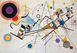 Composition 8 by Wassily Kandinsky on Framed Canvas Wall Art Prints Room Deco Poster Photo Landscape Pictures Home Decoration Artwork-Front