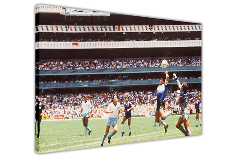Hand Of God by Maradona on Framed Canvas Wall Art Prints Home Decoration Pictures Room Deco Photo-3D