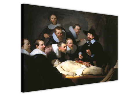 The Anatomy Lesson of Dr. Nicolaes Tulp by Rembrandt Re-printed on Framed Canvas Wall Art Prints Home Decoration Pictures Room Deco Photo-3D