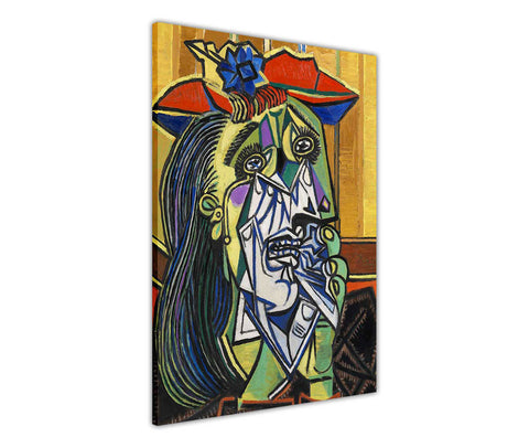 Weeping Woman Oil Painting by Pablo Picasso Re-printed on Framed Canvas Wall Art Prints Home Decoration Pictures Room Deco Photo-3D