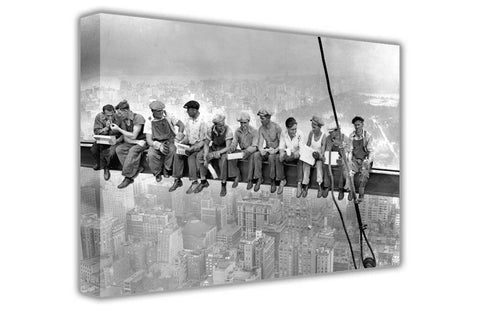Iconic Lunch Atop a Skyscraper on Framed Canvas Wall Art Prints Home Decoration Pictures Room Deco Photo-3D