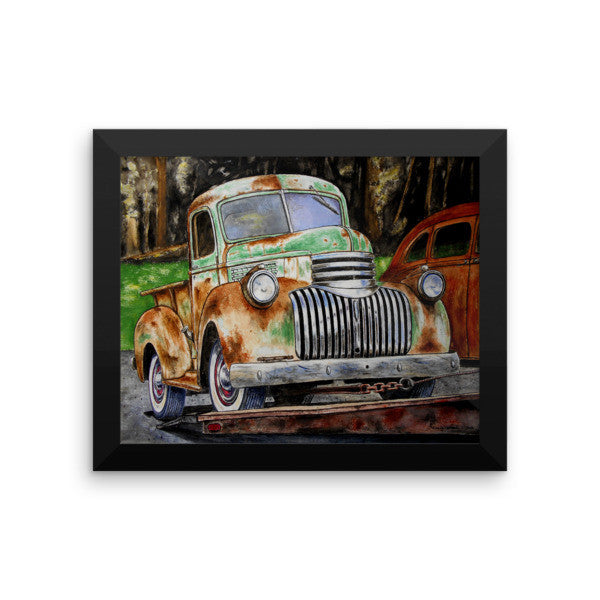 1942 Chevrolet Pickup - Going Home Framed Poster