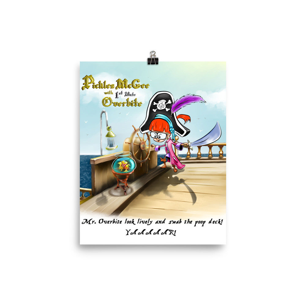 Pirate Pickles and 1st Mate Overbite Poster
