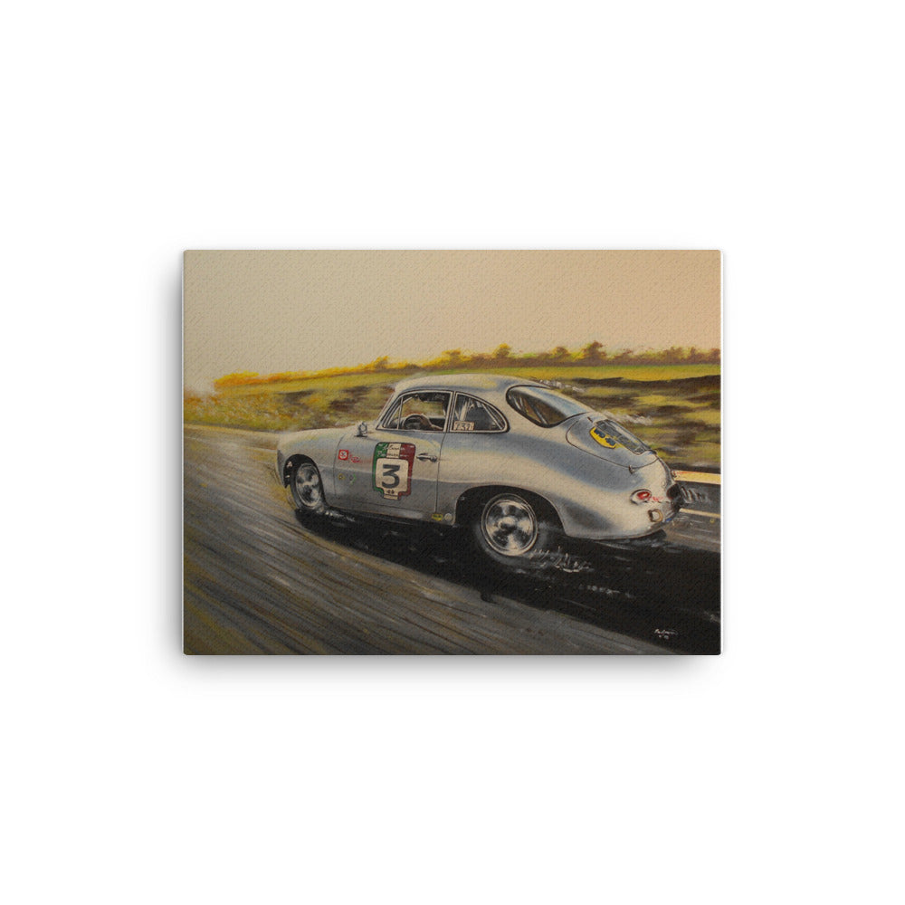 Porsche Sunset canvas print